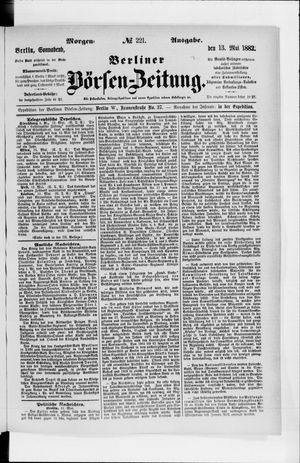 Berliner Börsen-Zeitung vom 13.05.1882