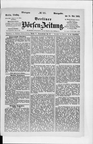 Berliner Börsen-Zeitung vom 16.05.1882