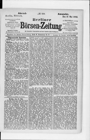Berliner Börsen-Zeitung vom 17.05.1882