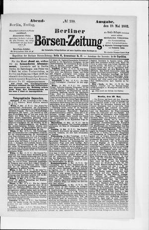 Berliner Börsen-Zeitung vom 19.05.1882