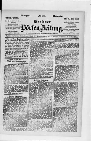 Berliner Börsen-Zeitung vom 21.05.1882