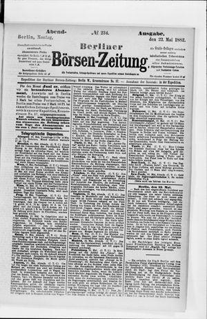 Berliner Börsen-Zeitung vom 22.05.1882