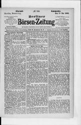 Berliner Börsenzeitung (25.05.1882)