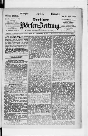 Berliner Börsen-Zeitung vom 30.05.1882