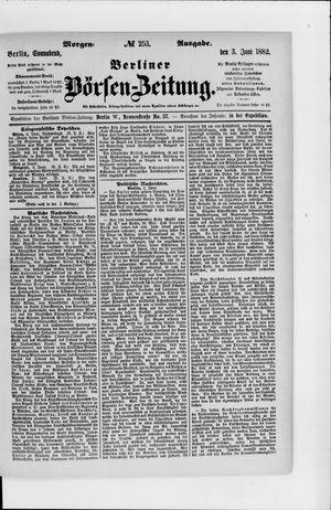 Berliner Börsen-Zeitung vom 03.06.1882