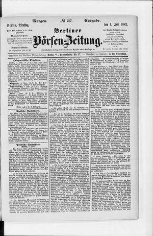 Berliner Börsen-Zeitung vom 06.06.1882