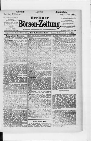 Berliner Börsen-Zeitung vom 07.06.1882