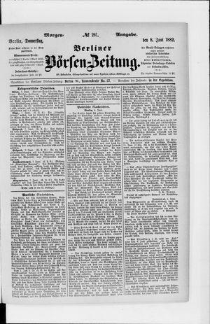 Berliner Börsen-Zeitung vom 08.06.1882
