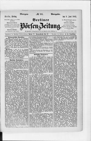 Berliner Börsen-Zeitung vom 09.06.1882
