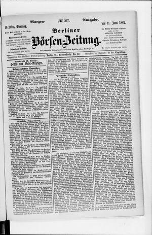 Berliner Börsen-Zeitung vom 11.06.1882