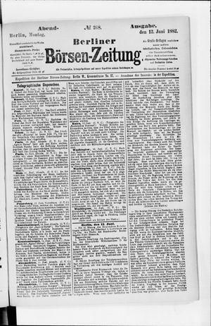 Berliner Börsen-Zeitung vom 12.06.1882