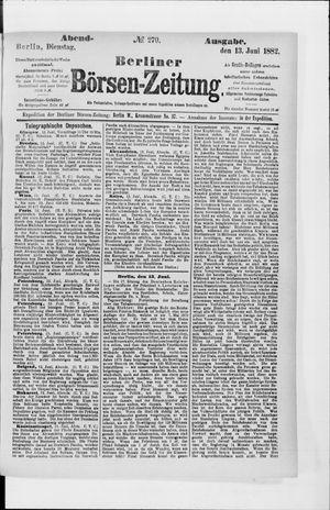 Berliner Börsen-Zeitung vom 13.06.1882