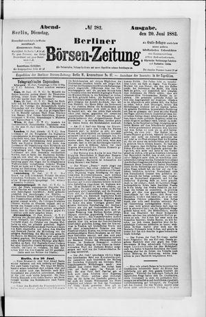 Berliner Börsen-Zeitung vom 20.06.1882