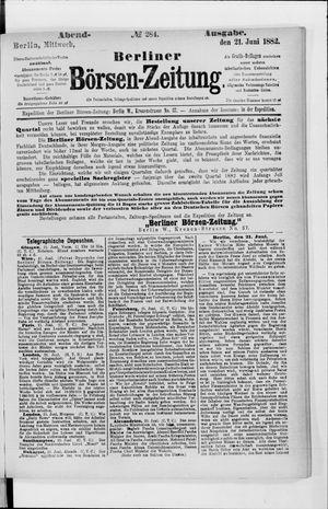 Berliner Börsen-Zeitung vom 21.06.1882