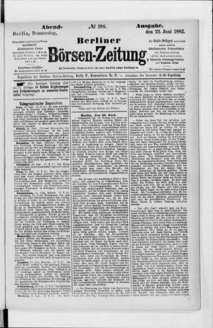 Berliner Börsen-Zeitung vom 22.06.1882