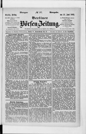 Berliner Börsen-Zeitung vom 23.06.1882