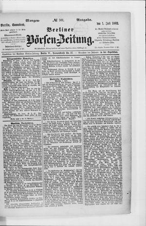 Berliner Börsen-Zeitung vom 01.07.1882