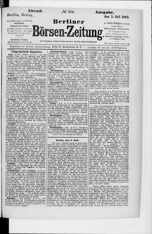 Berliner Börsen-Zeitung vom 03.07.1882