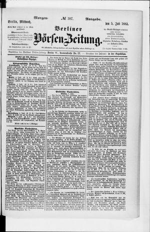 Berliner Börsen-Zeitung vom 05.07.1882