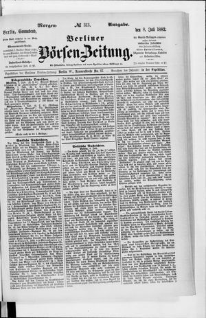 Berliner Börsen-Zeitung vom 08.07.1882