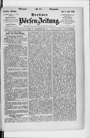 Berliner Börsen-Zeitung vom 09.07.1882