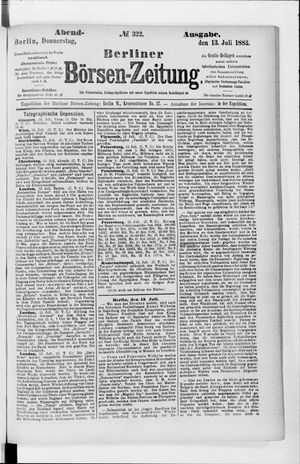 Berliner Börsen-Zeitung vom 13.07.1882