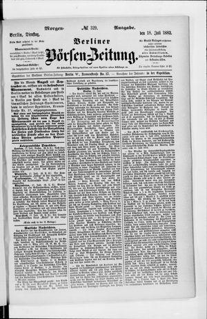 Berliner Börsen-Zeitung vom 18.07.1882
