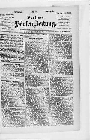 Berliner Börsen-Zeitung vom 22.07.1882