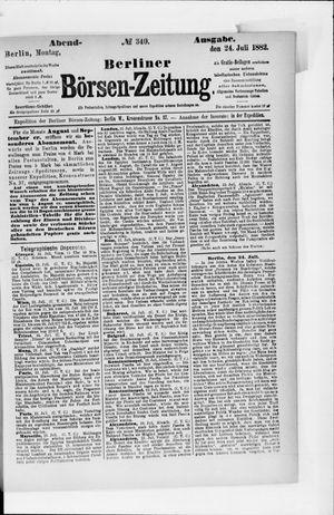 Berliner Börsen-Zeitung vom 24.07.1882