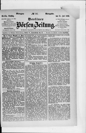 Berliner Börsen-Zeitung vom 25.07.1882