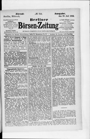 Berliner Börsen-Zeitung vom 26.07.1882