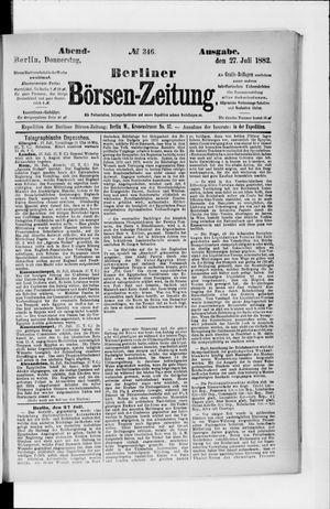 Berliner Börsen-Zeitung vom 27.07.1882