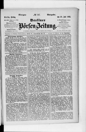 Berliner Börsen-Zeitung vom 28.07.1882