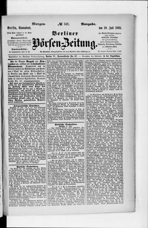 Berliner Börsen-Zeitung vom 29.07.1882