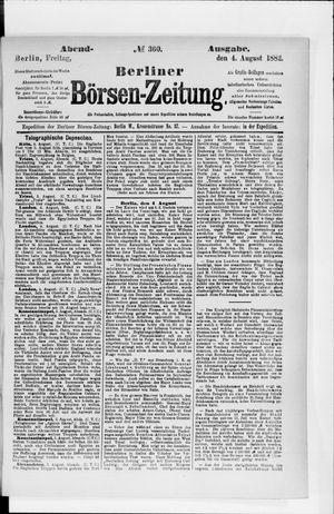 Berliner Börsen-Zeitung vom 04.08.1882