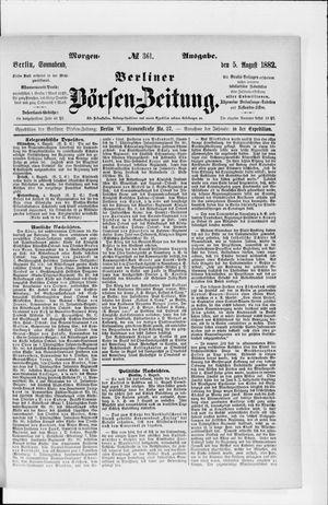 Berliner Börsen-Zeitung vom 05.08.1882
