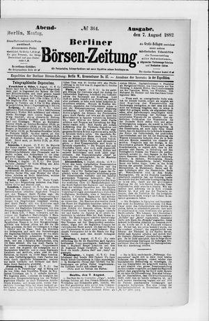 Berliner Börsen-Zeitung vom 07.08.1882