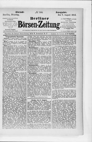 Berliner Börsen-Zeitung vom 08.08.1882
