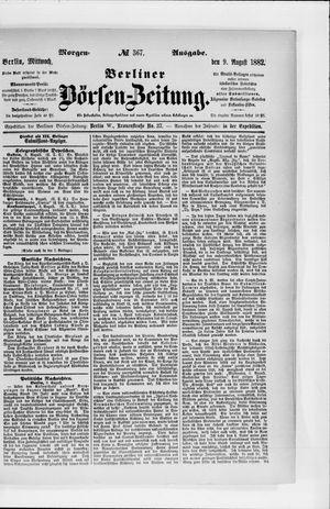 Berliner Börsen-Zeitung vom 09.08.1882