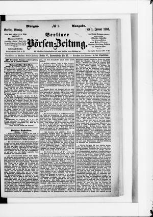 Berliner Börsen-Zeitung vom 01.01.1883