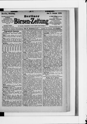 Berliner Börsen-Zeitung vom 02.01.1883