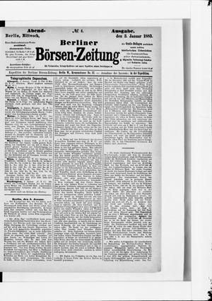 Berliner Börsen-Zeitung vom 03.01.1883