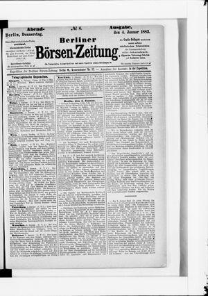 Berliner Börsen-Zeitung vom 04.01.1883