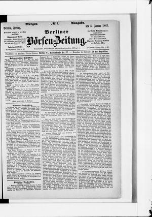 Berliner Börsen-Zeitung vom 05.01.1883