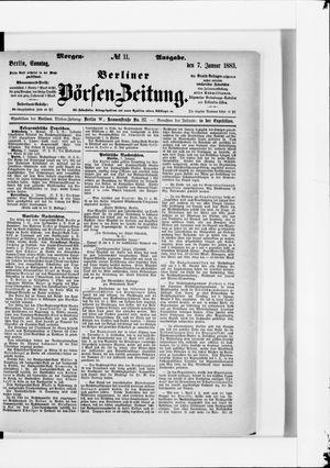 Berliner Börsen-Zeitung vom 07.01.1883