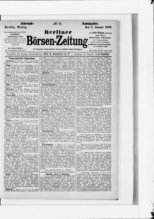 Berliner Börsen-Zeitung vom 08.01.1883