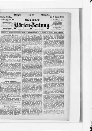 Berliner Börsen-Zeitung vom 09.01.1883