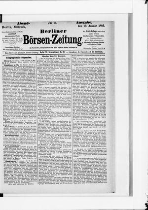 Berliner Börsen-Zeitung vom 10.01.1883