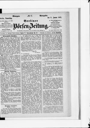 Berliner Börsen-Zeitung vom 11.01.1883
