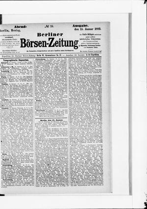 Berliner Börsen-Zeitung vom 15.01.1883